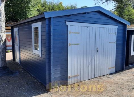 Log cabins 3m x 5m interlock garage for Log cabin style garages