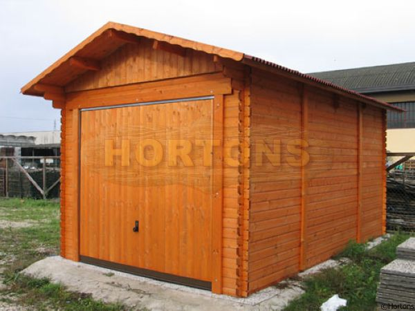 Log Cabins X Interlock Garage