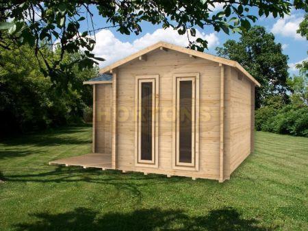Log Cabin Details 35mm 4x4m Petersfield L Shaped Cabin