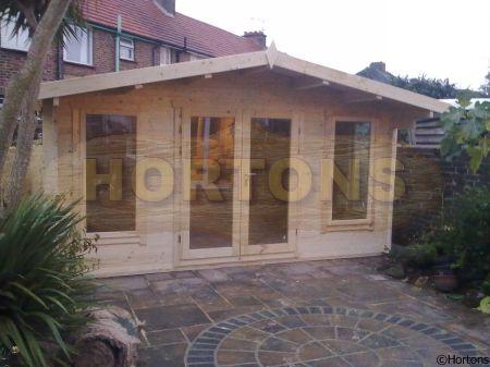 Log cabin details newbury 45mm 6x9m log cabin for Carport 6x9m